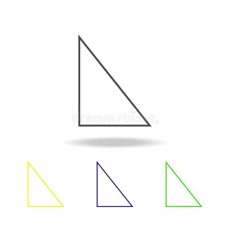 juist driehoek gekleurd pictogram Kan voor Web, embleem, mobiele toepassing, UI, UX worden gebruikt royalty-vrije illustratie