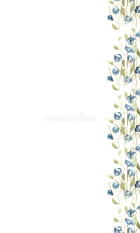 Juiste grens van wildflowers stock foto