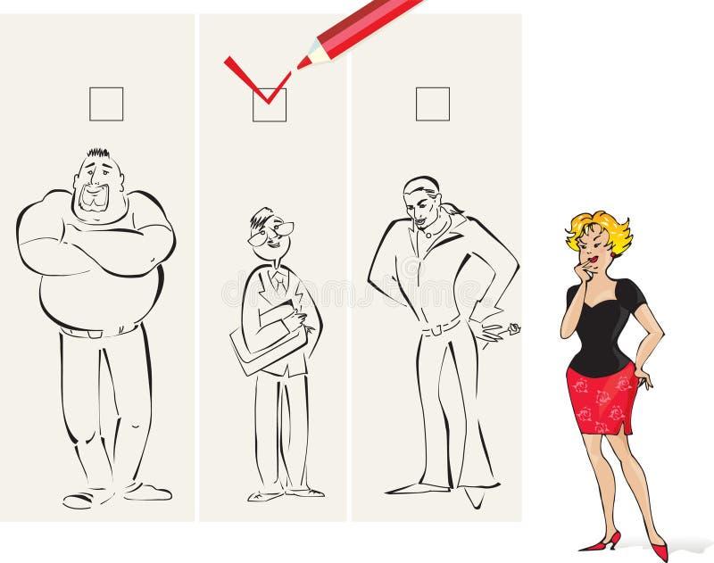 Juiste mens stock illustratie