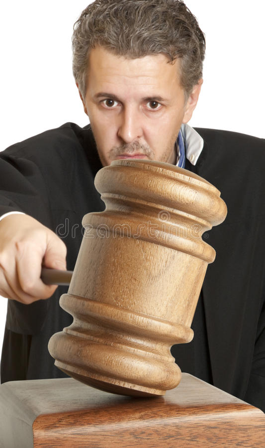 Juiz fotografia de stock royalty free