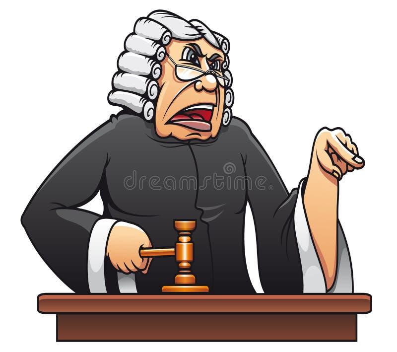 Juiz com gavel ilustração do vetor
