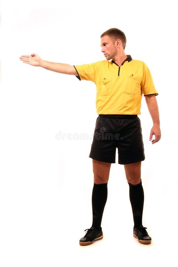 Juiz do futebol foto de stock royalty free