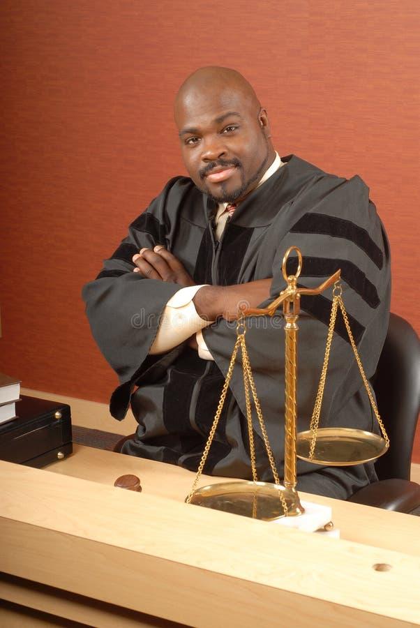 Juiz em sua mesa fotografia de stock