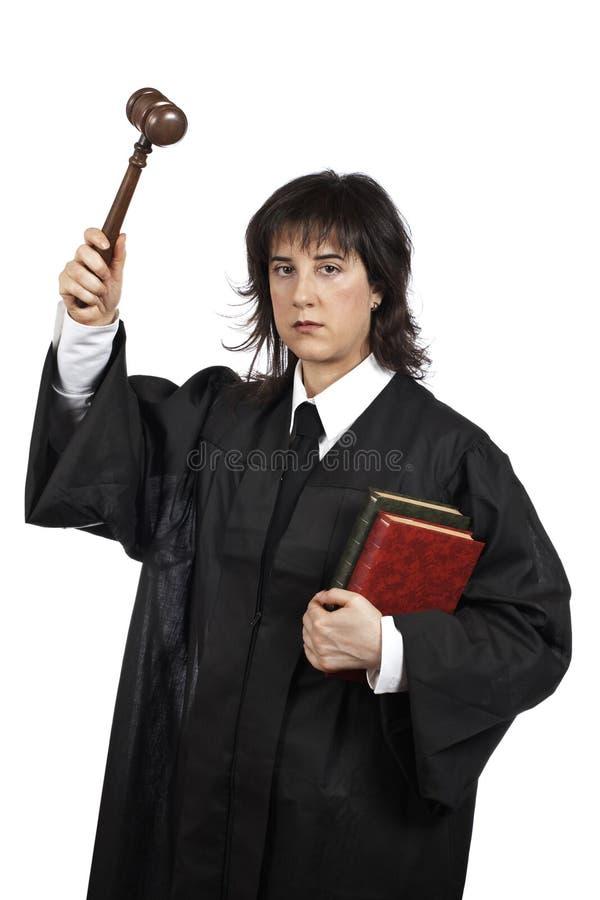 Juiz fêmea sério fotos de stock royalty free