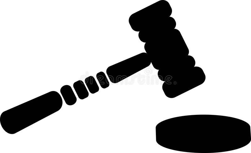 Juiz Gavel Justice ilustração royalty free