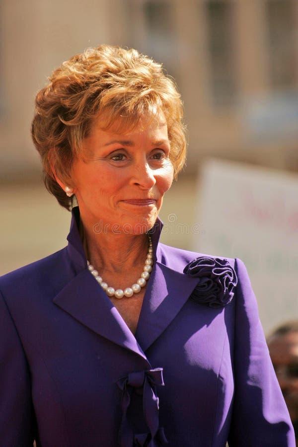 Juiz Judy Sheindlin foto de stock royalty free