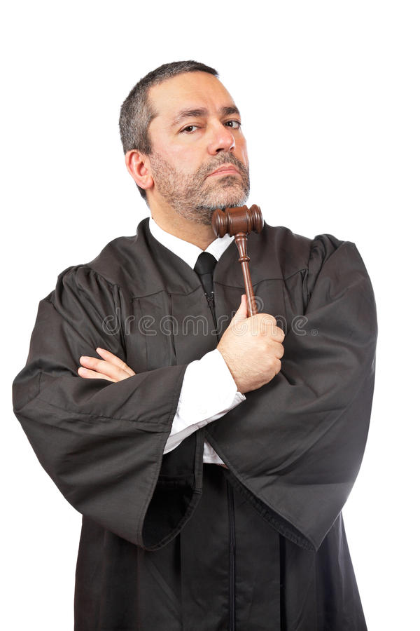 Juiz masculino sério foto de stock royalty free