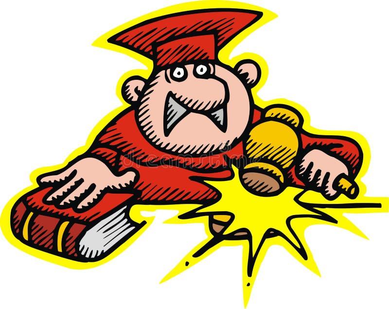 Juiz no vermelho ilustração stock