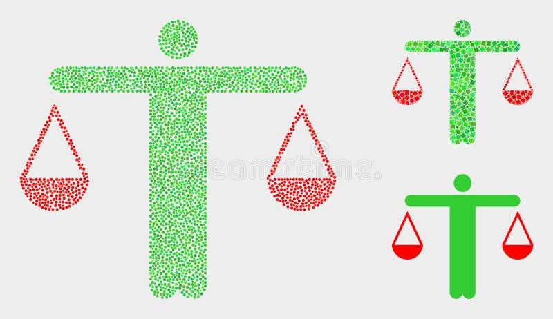 Juiz pontilhado Icons do vetor ilustração stock