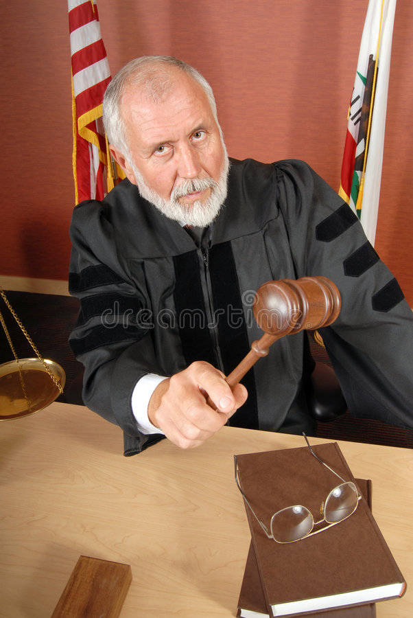 Juiz severo imagem de stock