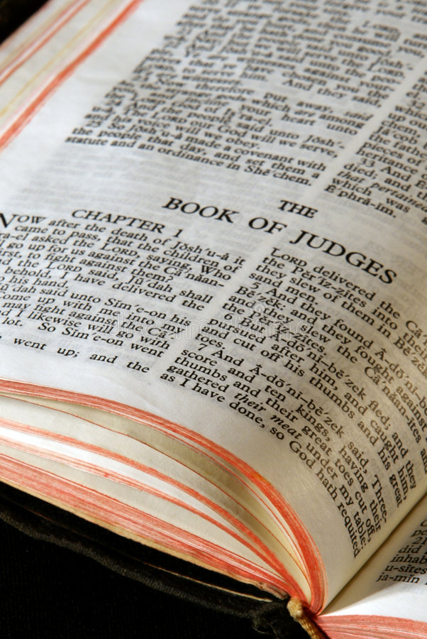 Juizes da série da Bíblia fotografia de stock