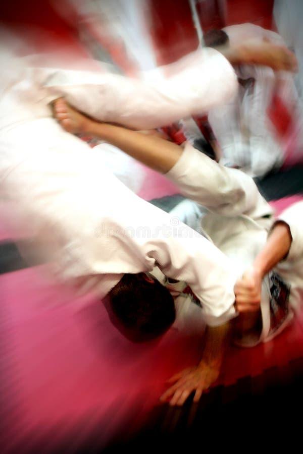 jujitsu rzut fotografia royalty free