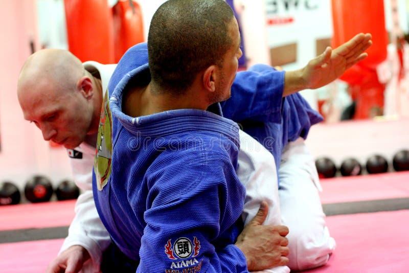 jujitsu szkolenie zdjęcia stock