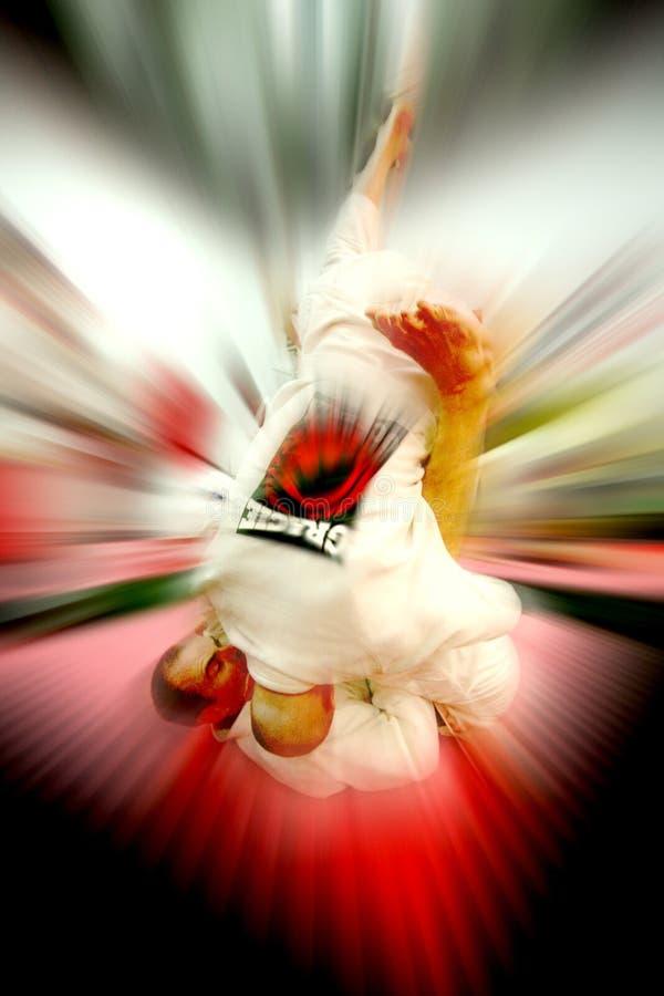 Jujitsu Throw royalty free stock photography