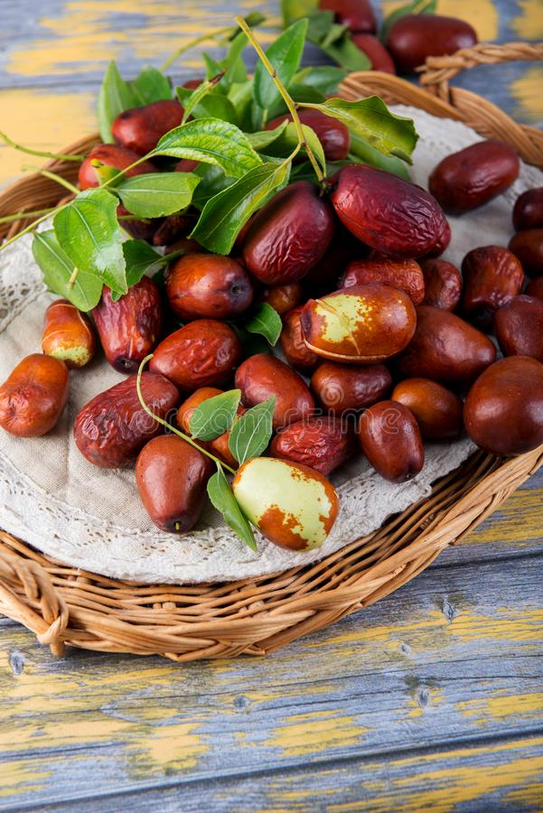 Jujube fuit - red dates - Chinese dates royalty free stock image