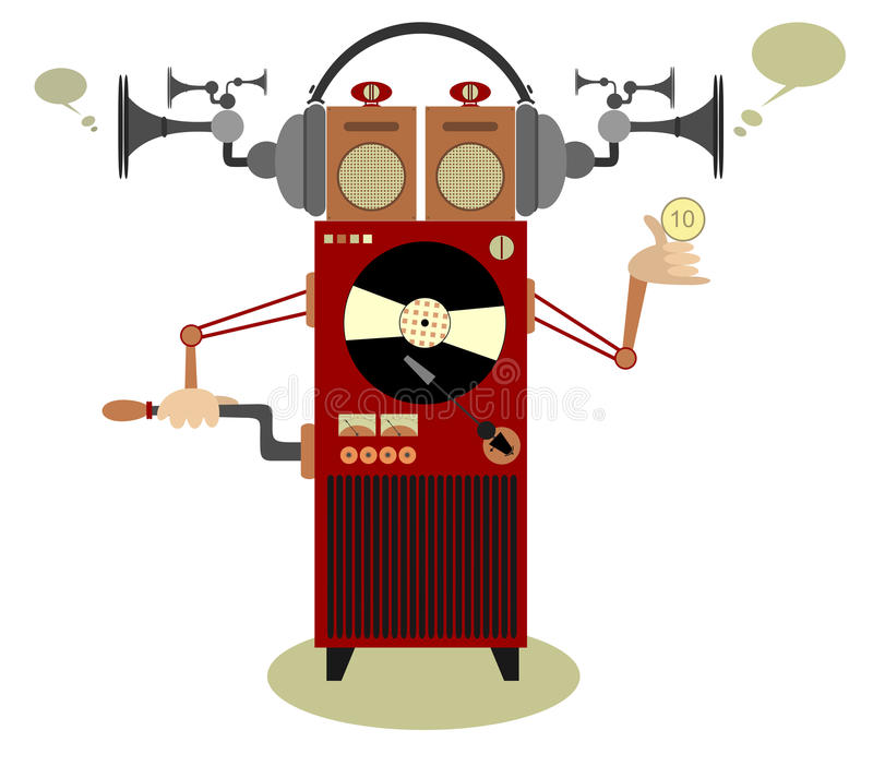 Juke-box vector illustratie