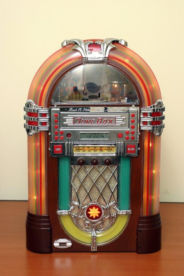 Jukebox. Old jukebox on a table