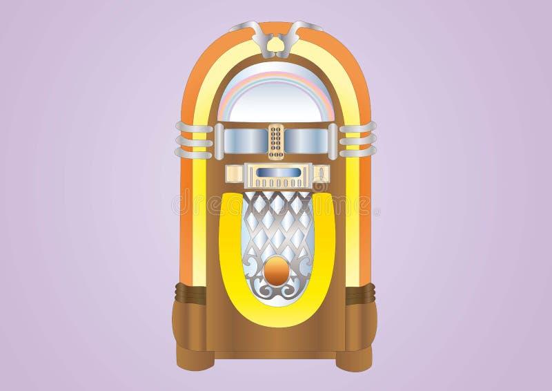 jukebox royaltyfri illustrationer