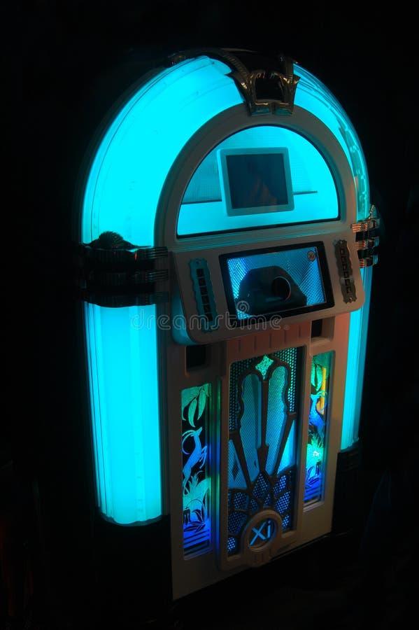 Jukebox blu fotografia stock libera da diritti