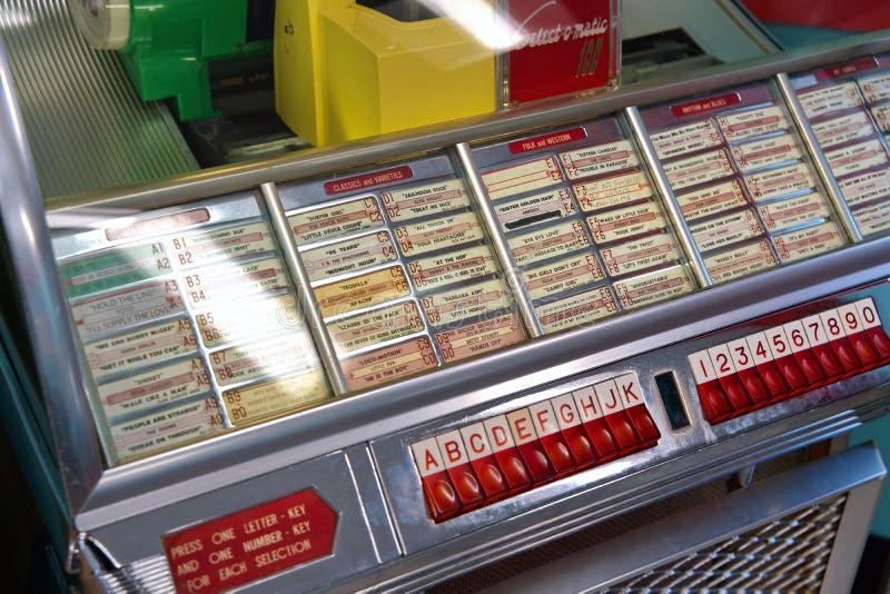 Jukebox Classique Aux Grands Ans D'Or images stock
