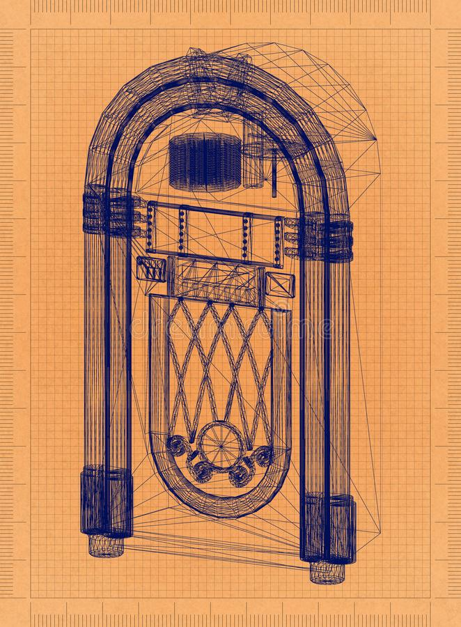 Jukebox - modelo retro fotos de stock