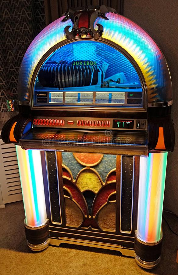 Jukebox stock image. Image of roll, song, jukebox, indoor