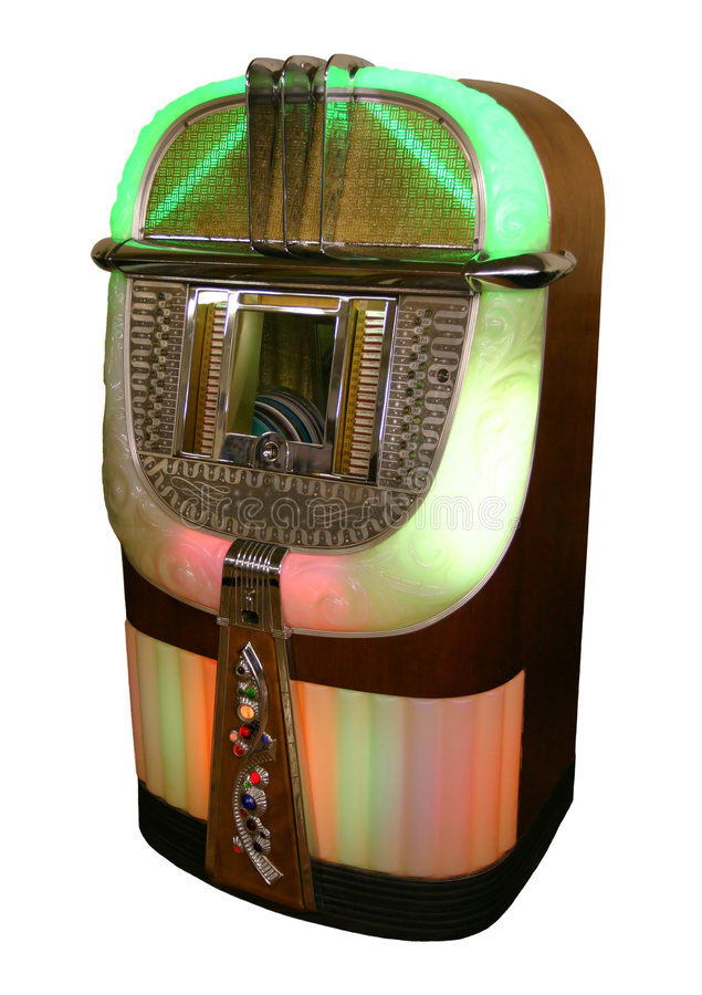Jukebox a partire dagli anni 40 fotografie stock libere da diritti
