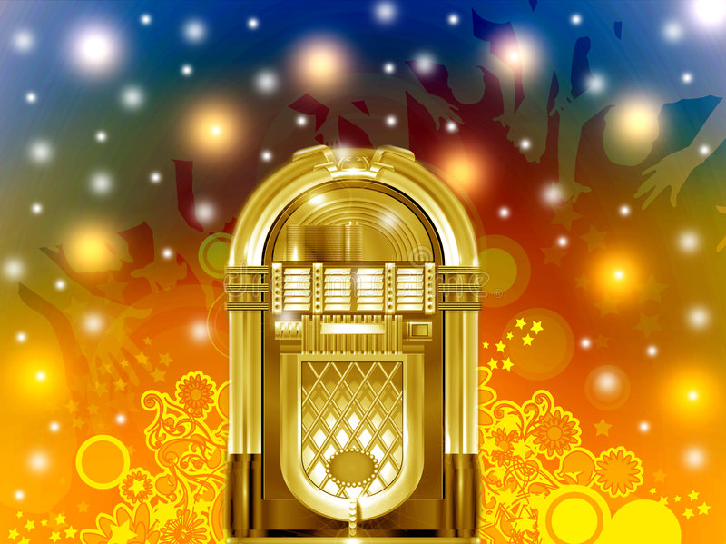 Download Jukebox party stock illustration. Illustration of night - 7632032