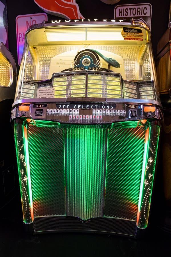 Music jukebox lights editorial photo  Image of antique