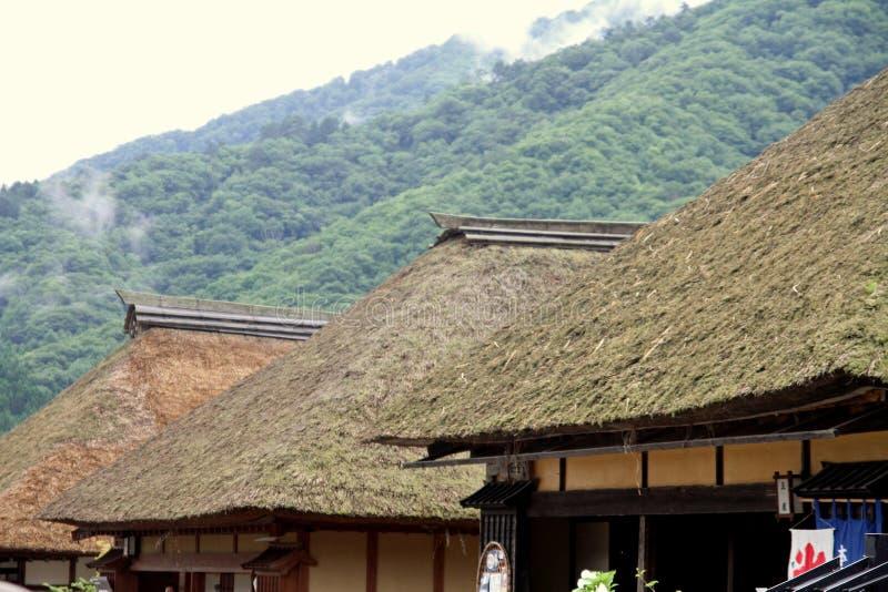 Juku de Ouchi (ciudad de posts) foto de archivo