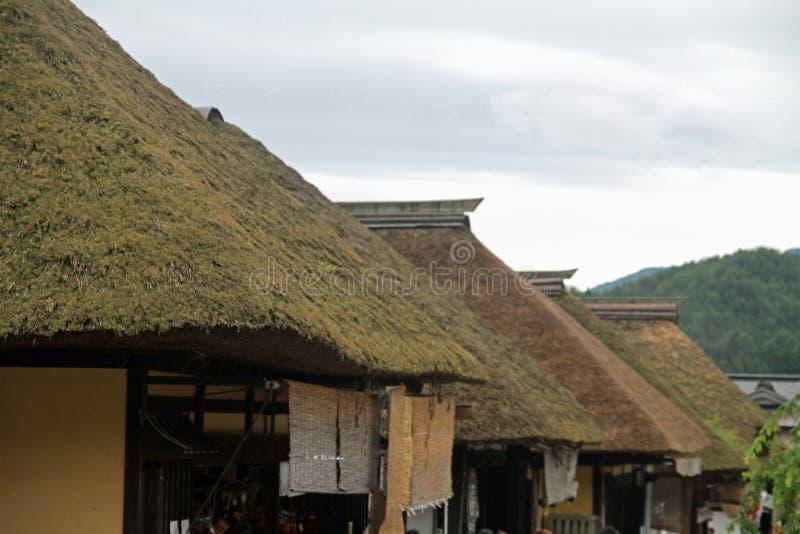 Juku de Ouchi (ciudad de posts) fotos de archivo