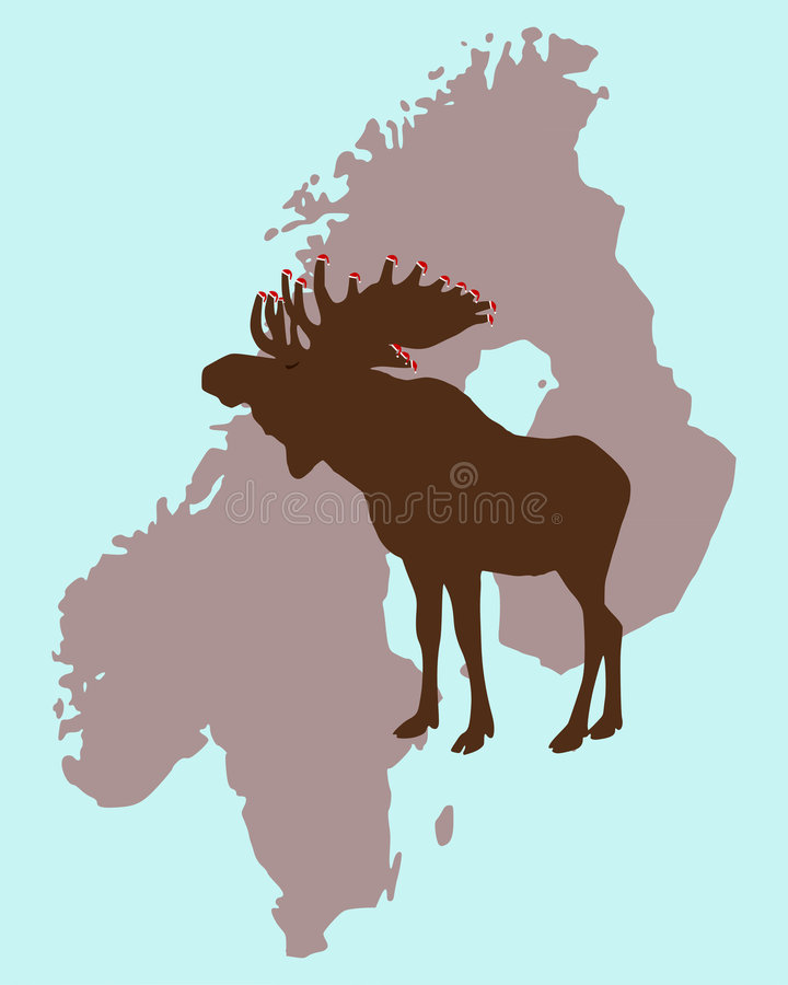 julälg scandinavia vektor illustrationer