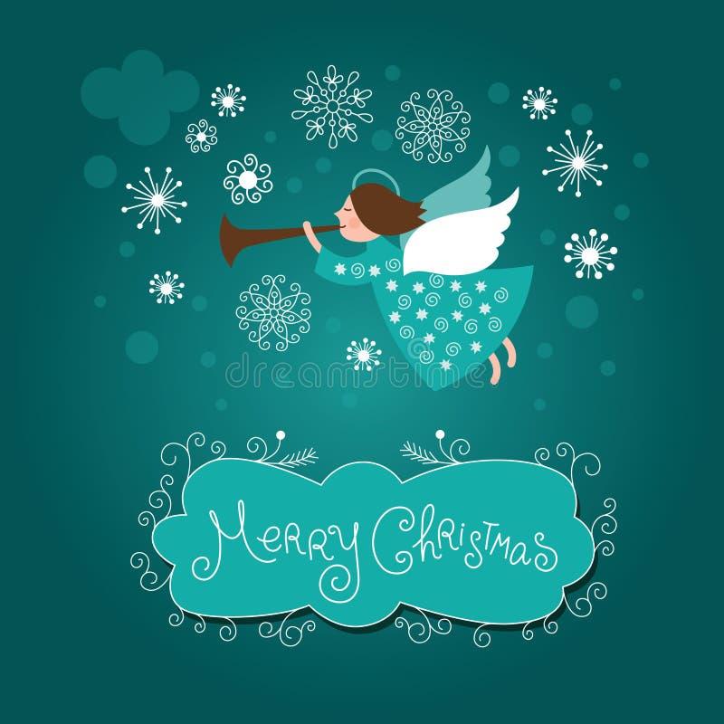 Julängel stock illustrationer