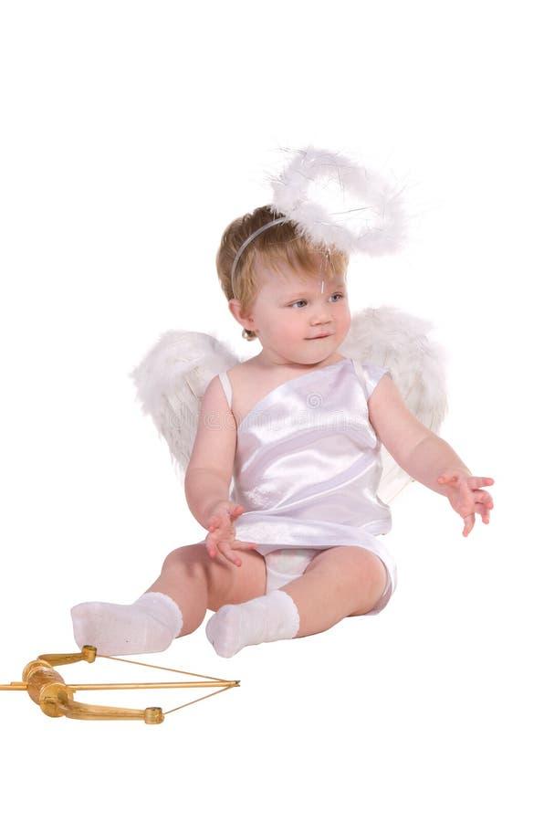Julängel, småbarn royaltyfria foton
