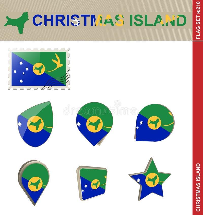 Julönflaggauppsättning, flaggauppsättning #210 stock illustrationer