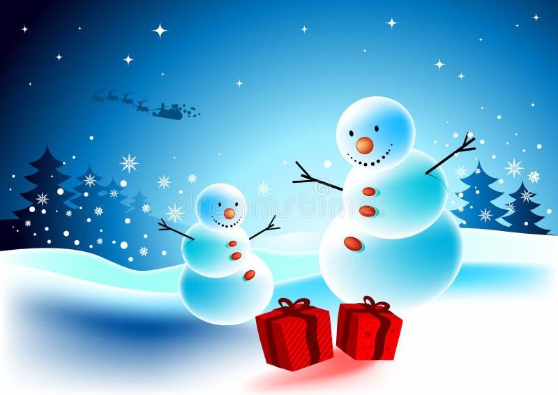 julöverrrakning vektor illustrationer