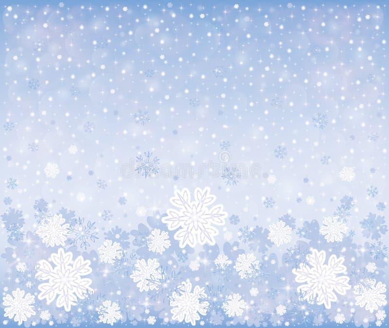 Jul övervintrar frostig bakgrund stock illustrationer