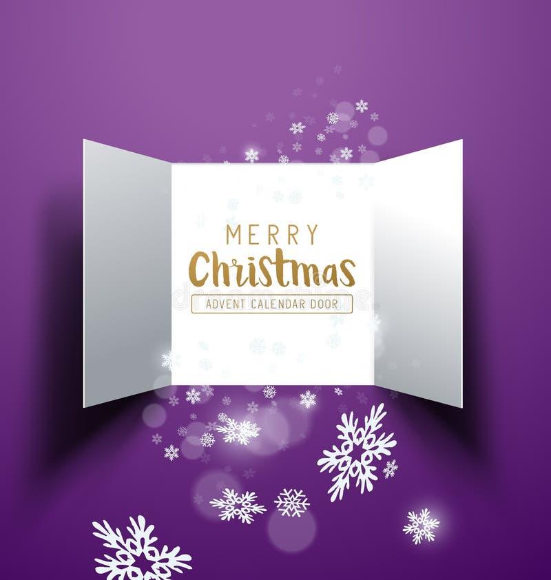 Jul Advent Calendar Doors stock illustrationer