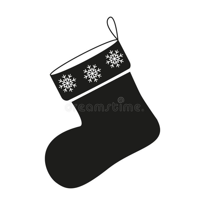 Jul av sockasymbolen i svart vektor illustrationer