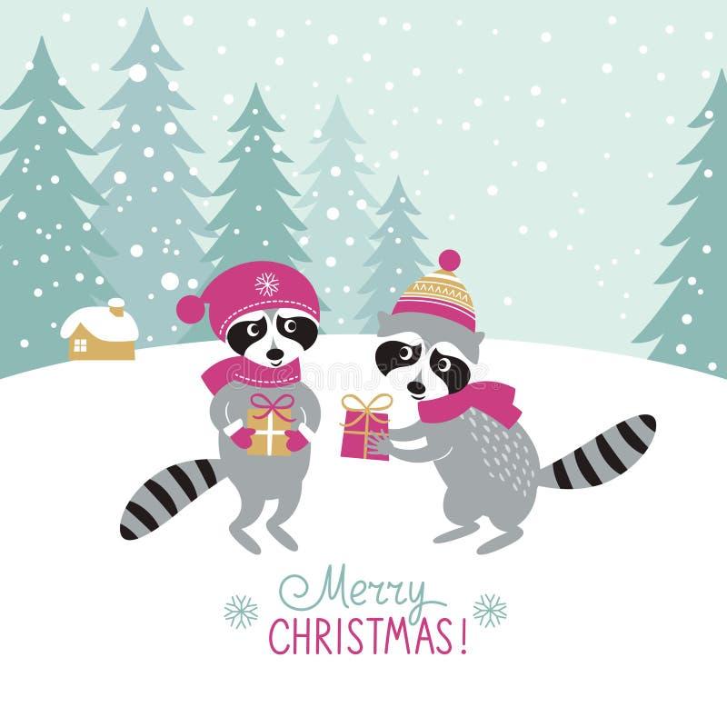 Jul bakgrund, hälsningkort vektor illustrationer