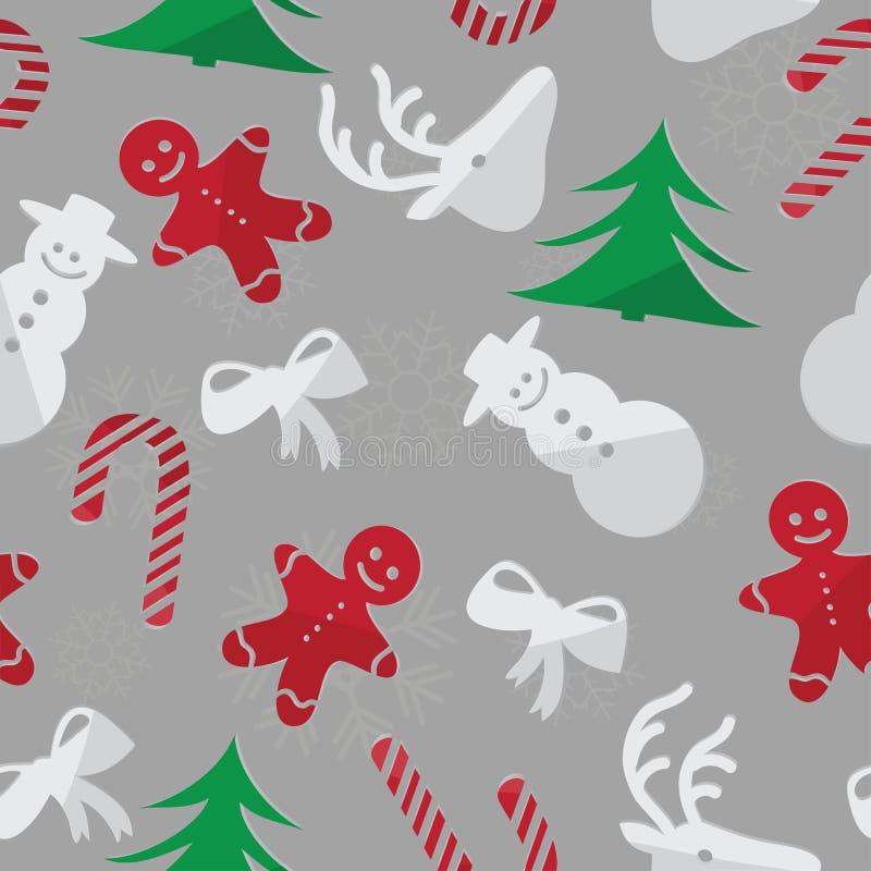 Jul bakgrund som är sömlös stock illustrationer