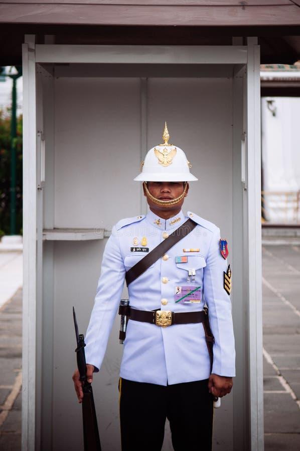 Thai royal Kings guard at Grand Palace Bangkok royalty free stock image