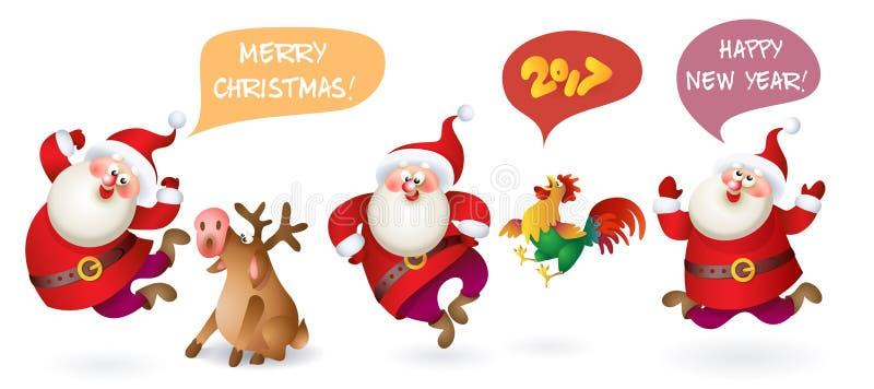 Download Jul claus santa vektor illustrationer. Illustration av poserar - 78727179