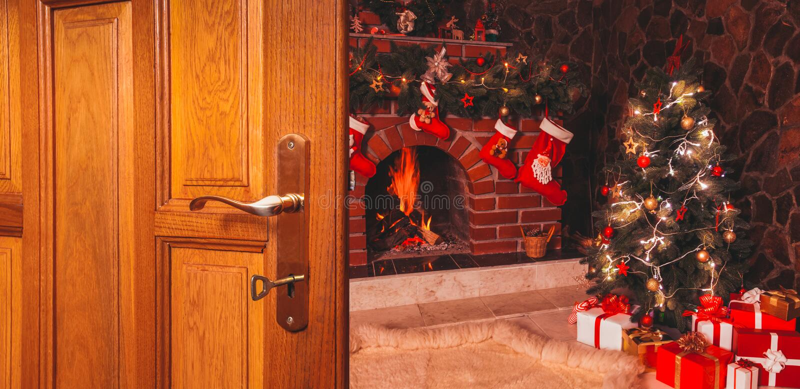 Jul dörren royaltyfria foton