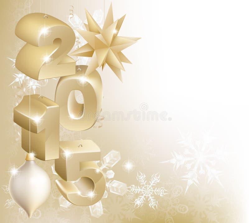 2015 jul eller garneringar för nytt år vektor illustrationer