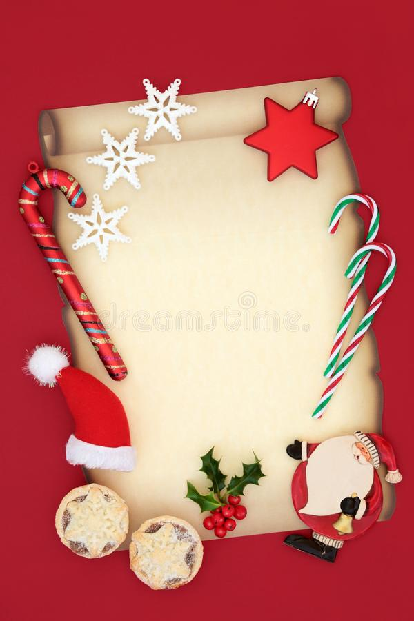 Jul Eve Letter till jultomten royaltyfri foto