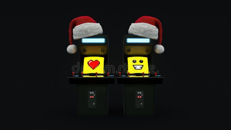 Jul för begrepp för modig maskin för tappninggalleri glad stock illustrationer