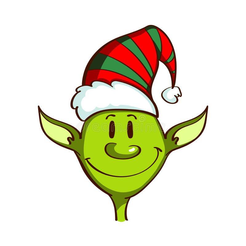 Jul gör grön älvan royaltyfri illustrationer