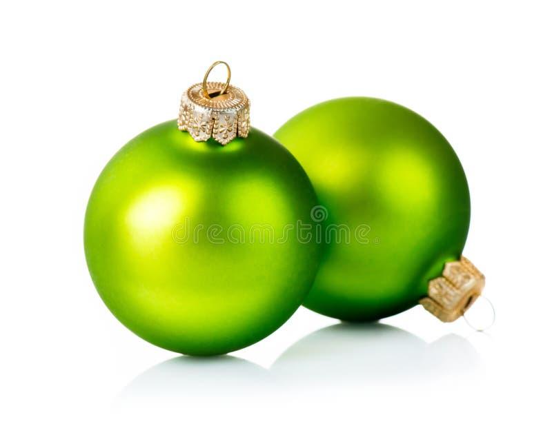 Jul gör grön garneringar royaltyfria bilder