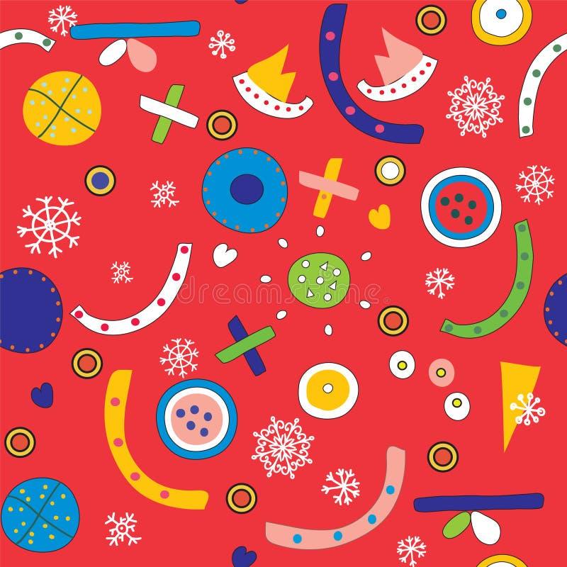 Jul gör sammandrag den sömlösa modellen royaltyfri illustrationer